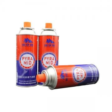 Butane refill fuel portable camping butane gas canister manufacturing