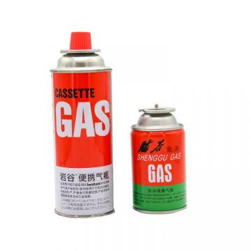 300ml / 250ml / 220ml China Supplier Household Butane Gas Cartridge For Camping