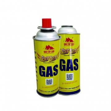 The empty mint tin butane gas canister and mini aerosol butane gas can 190gr for camping stove